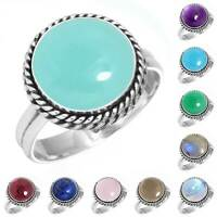 925 Sterling Silver Gemstone Ring Women Jewelry Size 5 6 7 8 9 10 11 12 13 NZ969