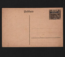 OPC 1920's SAAR 10c on 30Pf Postal Stationary Card No Period After Cent Mint