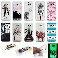 Glitter Bling Transparent Novelty Colourful TPU Phone Case For Samsung Galaxy