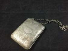 Vintage Sterling Silver Card Case / coin purse