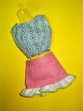 Barbie Fashionista Doll Clothes Lot 2pc Pastel Floral Skirt Set No Label