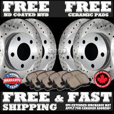 P0950 1999 2000 2001 2002 2003 ML320 Cross Drilled Brake Rotors Ceramic Pads F+R