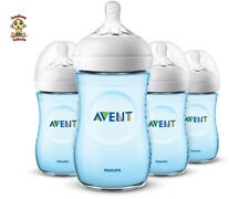 Avent Natural Feeding Bottle, New Spiral Teats Design, 9 oz, Blue, 1 to 4 Pack