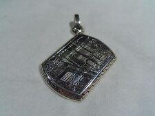 John Hardy Men's 925 Classic Chain Sterling Silver Meteorite Dog Tag Pendant
