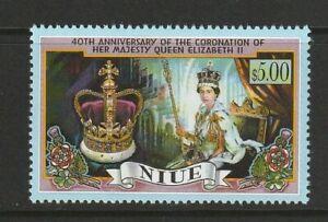 Niue 1993 40th Anniv of the Queens Coronation UM
