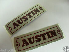 """Austin j40 rocker cover d'autocollants - """"AUSTIN"""" Autocollants x2"""