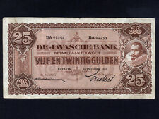 Netherlands Indies:P-71c,25 Gulden,1930 * Jan Pieterzoon Coen *