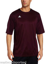 ADIDAS MEN'S BOY'S VARSITY PERFORMANCE LOOSE FIT TEE (MAROON) NEW X SMALL XS