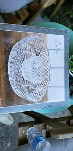 """Godinger Dublin Crystal Collection 12"""" Chip and Dip 2 Piece Serveware N.O.S."""