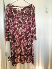 Diane von Furstenberg grey and purple dress in size 4