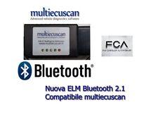 ELM 327 MODIFICATO certificato multiecuscan CAN OBD2 FIAT SERVICE Bluetooth