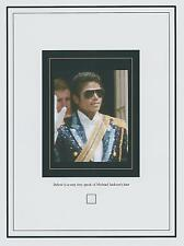 MICHAEL JACKSON worn owned personal HAIR STRAND The Jacksons DUST SPECK SIZED