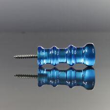 Lindshammar - Christer Sjogren - Blue Glass Coat Hook Garderobe - 1960s Swedish