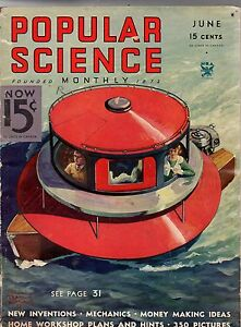 1934 Popular Science June-Pan Am Clipper passes first test;Cave Cities;Fort Knox