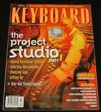 1998 Keyboard Magazine ALESIS NANOPIANO WEDGE, Shure SM81 AKG 460  Serge Modular