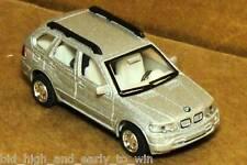SILVER  BMW X5 1/72 SCALE DIE CAST NICE & NEW