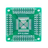 5pcs QFP/TQFP/LQFP 16-80 to DIP Adapter Compatible Converter PCB Board TW