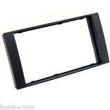 CT24VW07 VOLKSWAGEN TOUAREG 2003 to 2010 BLACK DOUBLE DIN FASCIA ADAPTER PANEL