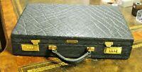 Rare, Vintage 1980 Black Elephant Leather, Hard Side, Attache Briefcase Bag