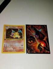 Carte Pokemon DRACAUFEU 4/102 Rare Set de Base Wizard FR EDITION 1 Proche NEUF