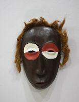 African Mask Lega Bearded Wood Mask DRC
