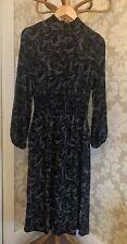 M&S Dress. Midi. High Neck. Size 10. Black. BNWOT