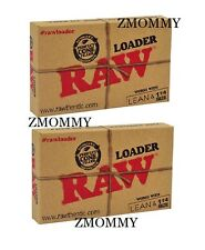RAW Classic Natural Unrefined Rolling Paper - Cone Loader (Lean & 1 1/4) 2-PACK