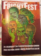 FIONA DOURIF SIGNED FRIGHTFEST PROGRAMME GUIDE AUG 2017 CULT OF CHUCKY 24/08/17