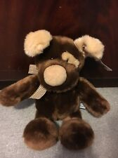 VINTAGE ANIMAL CROSSING RUSS 'PODGE' CUDDLY PLUSH PUPPY- ROSS BERRIE & CO