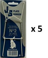 5 Spring Plate Wall Hangers Holder Size 8 -10inch No2 To Fit Plate Display Decor