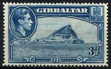 Gibraltar 1938-51 SG#125a 3d Light Blue KGVI MH P14 Cat £130 #D40911