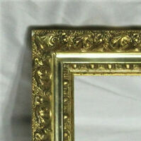"ANTIQUE FITS 13"" X 18"" GOLD GILT ORNATE WOOD FRAME FINE ART VICTORIAN"