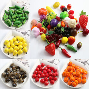 10pcs Simulation Fake Fruits and Vegetables Artificial Fake Foam Green Apple CA