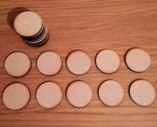 10x Circle Round  Craft Embellishment Mdf Wooden Shape40mm x 40mm