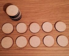 100x Circle Round  Craft Embellishment Mdf Wooden Shape 50mm
