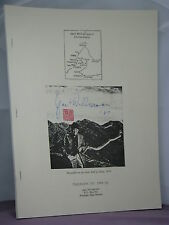 signed by author,Jack Williamson's China Diary:3 Weeks in PRC, 9/11 - 10/3 1986