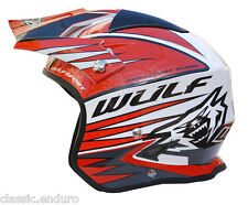 Wulfsport Tri Action Trials Helmet Large Red