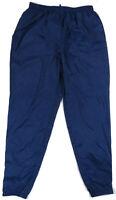 Vintage 90s Nike Blue Unlined Nylon Windbreaker Track Pants Shiny Hip Hop 2xl