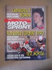 MOTOSPRINT n°45 1990  TEST  SUZUKI GSX-R 750 RGV 250 GAMMA  [MS9]