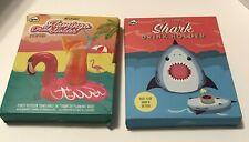 NPW Inflatable Shark and Flamingo Drink Holders - 1 of each - NIB Pool or Bath