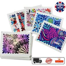 44 Designs Colorful Nail Art Water Transfer Stickers Nail Tips Decals