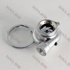 Electronic Turbo Turbine Key Chain Keychain Key Ring w/ Sound and LED - Silver