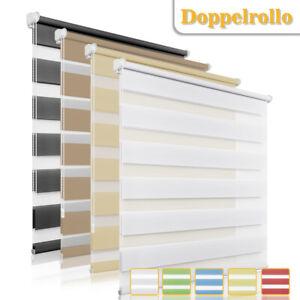 ab 5,76 Doppelrollo ohne Bohren klemmfix Fensterrollo Duo Rollos Seitenzugrollo