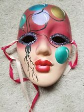 Hand painted Mardi Gras ceramic mask