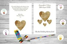 Personalised Childrens Kids Wedding Activity Pack Book Favour Heart Ab124