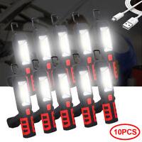 2in1 AKKU Arbeitsleuchte COB-LED KFZ Magnet Werkstattlampe Handlampe Stablampe