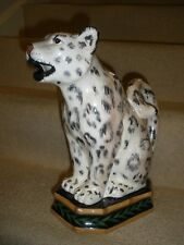 Raymond Waites Safari Leopard Pitcher Figural Certified International Corp EUC