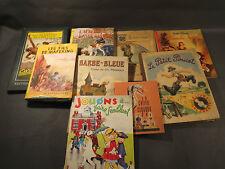Lote 9 antiguos libros pour enfants barba bleue el pequeño poucet blancanieves