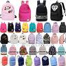 Women's Girl Canvas School Backpack Shoulder Book Bag Travel Rucksack Satchel