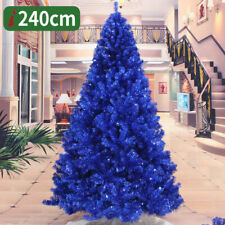 2 3 4 5 6 7 8 FT Blue Christmas Xmas Tree Undecorated Festival Holiday Winter